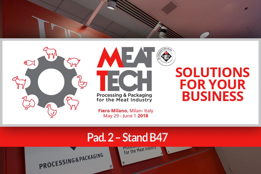 INOX MECCANICA management is pleased to invite you to MEAT TECH 2018